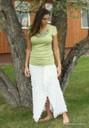 Misses Ruffle wrap style skirt