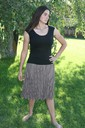 Taupe short Fancy Skirt